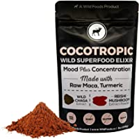 Wild Cocotropic Raw Cacao 饮料 Elixir with Reishi、Chaga、Raw Maca、Turmeric | Nootropic 热可可饮料,添加到冰沙,奶昔,咖啡 16盎司 16.00