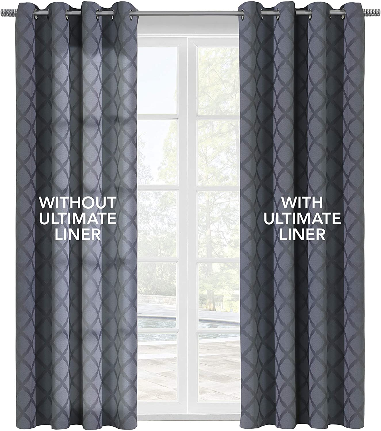 Thermalogic Ultimate Thermal Energy Saving Blackout Window Curtain Liner, 45x113, White