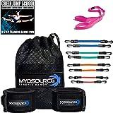 Kinetic Bands Cheer Flexibility Fitness Training Kit for Cheerleaders - Leg Resistance Bands, Stunt Strap, Digital Training D