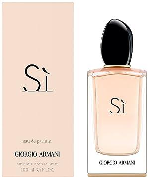 228a25251fef9 Giorgio Armani Si Eau De Perfume Spray for Women, 100 ml: Amazon.co ...
