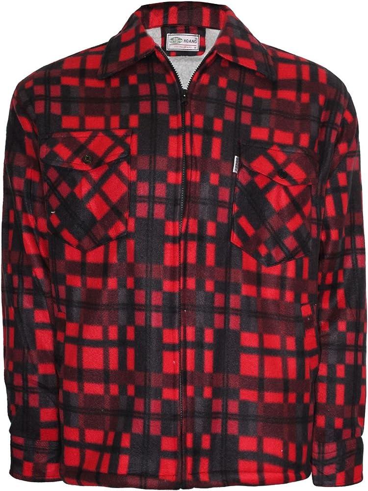 para Hombre Sherpa con Forro Acolchado Grueso Lumber Jack cálido Compruebe Camisa de Invierno Capucha Estilo también Disponibles M-XXXL Red/Black: Amazon.es: Ropa y accesorios