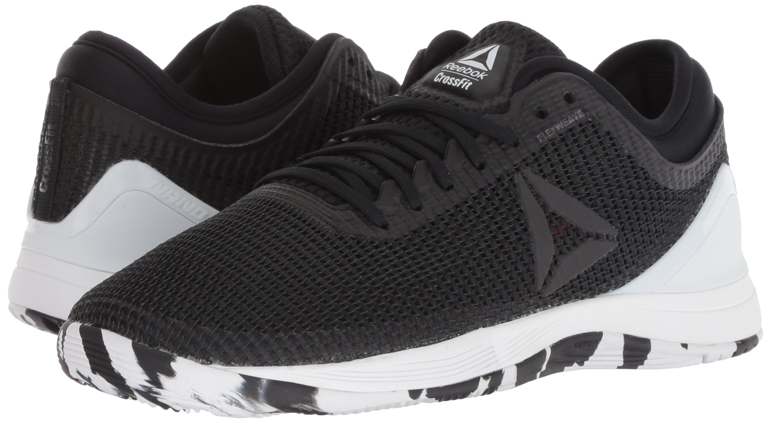Reebok Women's CROSSFIT Nano 8.0 Flexweave Cross Trainer, Black/White/Twisted Pink, 5 M US by Reebok (Image #6)