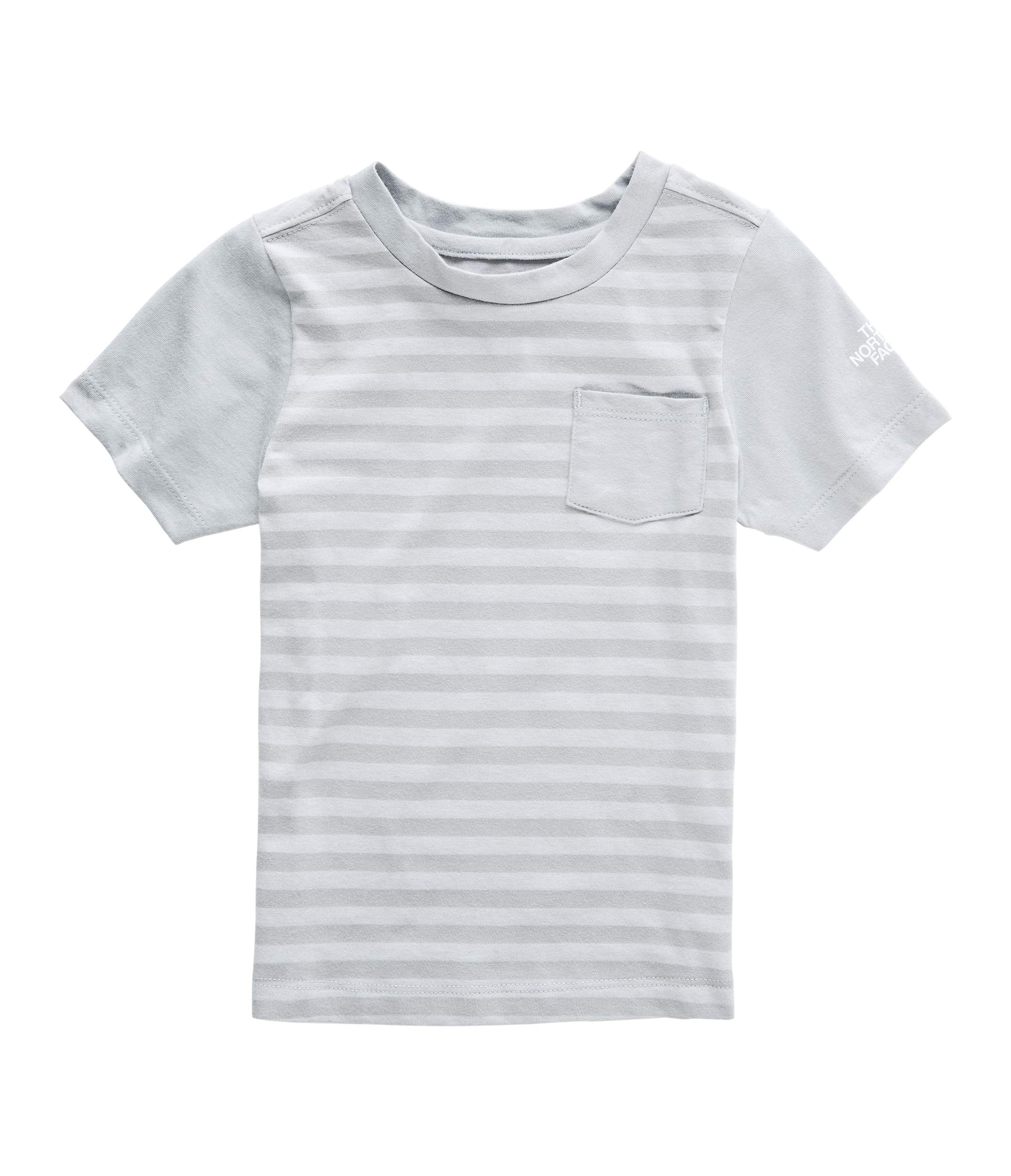 The North Face Toddler Short Sleeve Pocket Tee, Mid Grey Stripe, Size 3T by The North Face