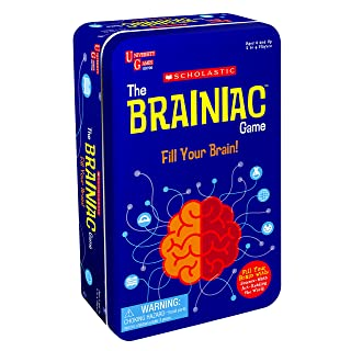 The Scholastic Brainiac Game Tin