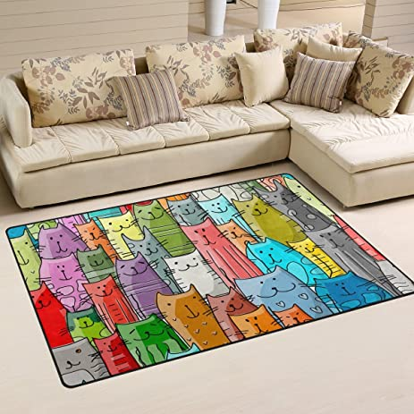 My Little Nest Funny Cats Pattern Area Rug 33quot X 5 For