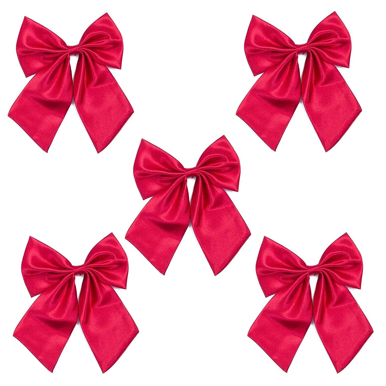 Ladies Adjustable Pre tied Bowtie - Solid Color Bow Ties for Women ...