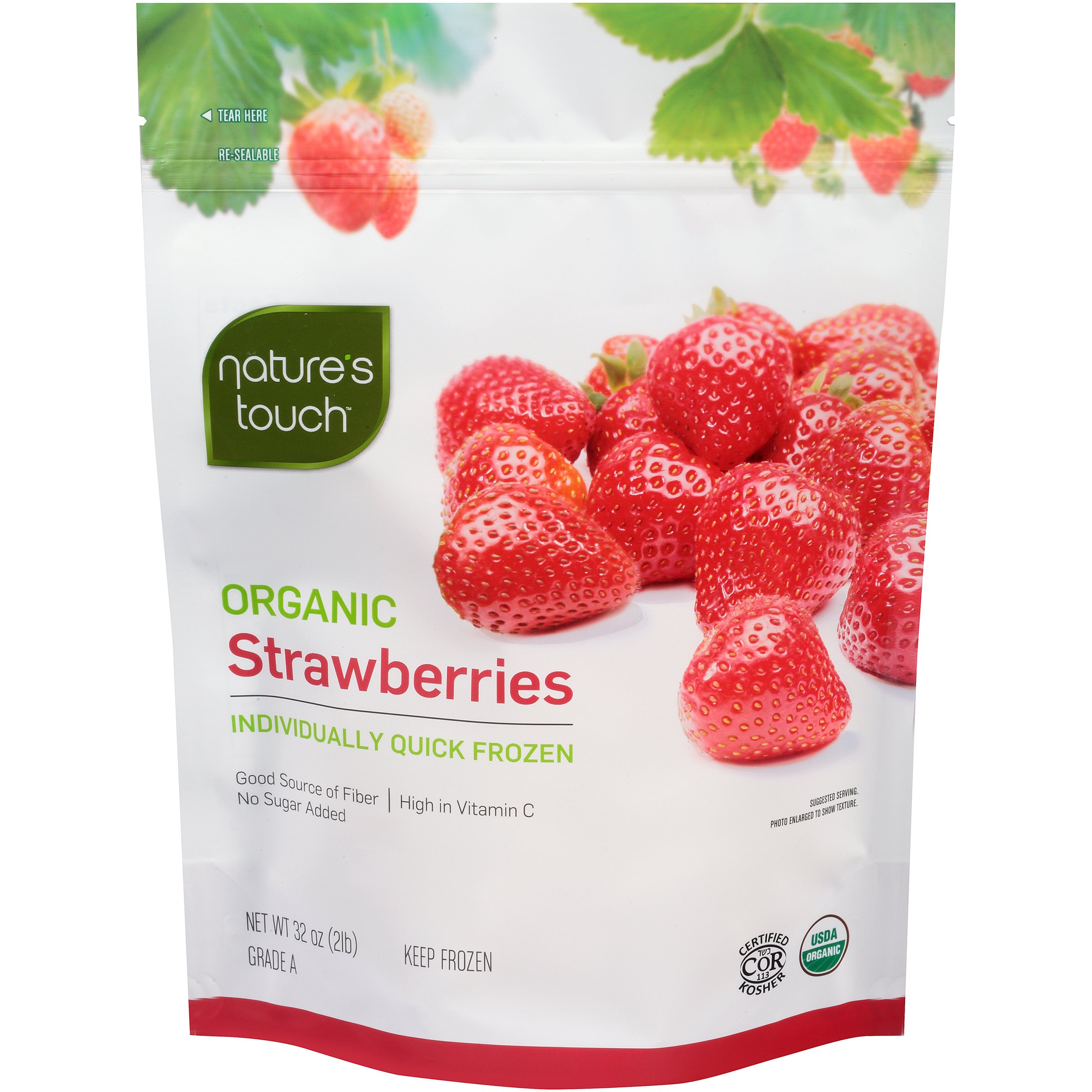 Nature's Touch Organic Fruits, Strawberries 32 oz. (6 Count) by Nature's Touch