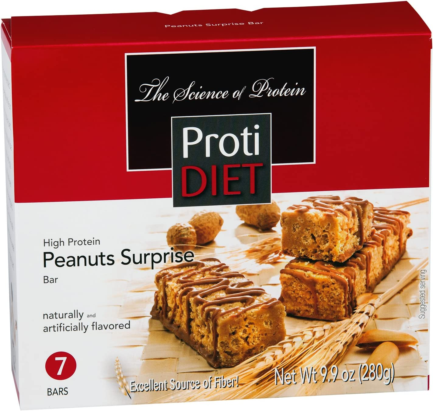 ProtiDiet High Protein Bar – Peanut Surprise 7 Servings Box