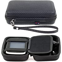 Digicharge Hard Carrying Case for Tomtom Via 1425 1525 M SE 1425M 1525M 1525TM Go 52 Go 520 5200 Rider 500 550 Trucker 550 5-Inch GPS with Accessory Storage and Lanyard - Black
