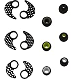 Ear tips for jaybird x2 , BLUEWALL Eartips Ear Gel Ear hook for Jaybird X , Anti-Slip Durable Silicone S\M\L 3 Pair all in 1 sets Replacement Ear Cushions For JayBird BlueBuds X, X2 , Black