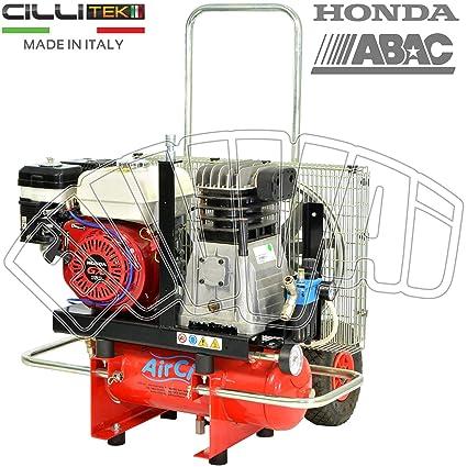 motocompressore 5,5 HP 10 Lt Motor Honda GX160 Gasolina Compresor Aire ruedas