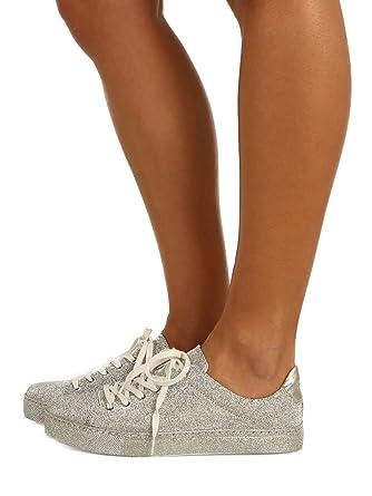 Schutz Chayton Sparkle Sneaker Silver