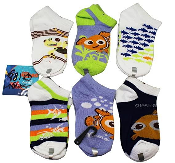 Disney Pixars Finding Nemo Socks Shoe Size 7-10 toddler (3 Random Design Pairs