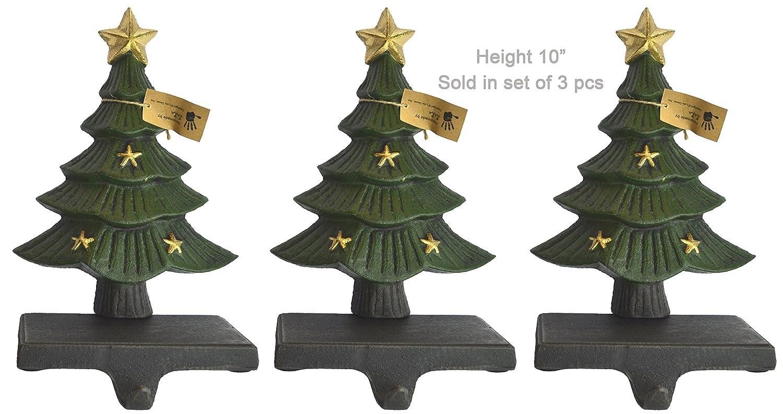 Christmas Tree Stocking Holder.Amazon Com Lulu Decor Cast Iron Decorative Christmas Tree Stocking