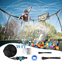 Deals on Somhe Trampoline Sprinkler Waterpark 39-Ft