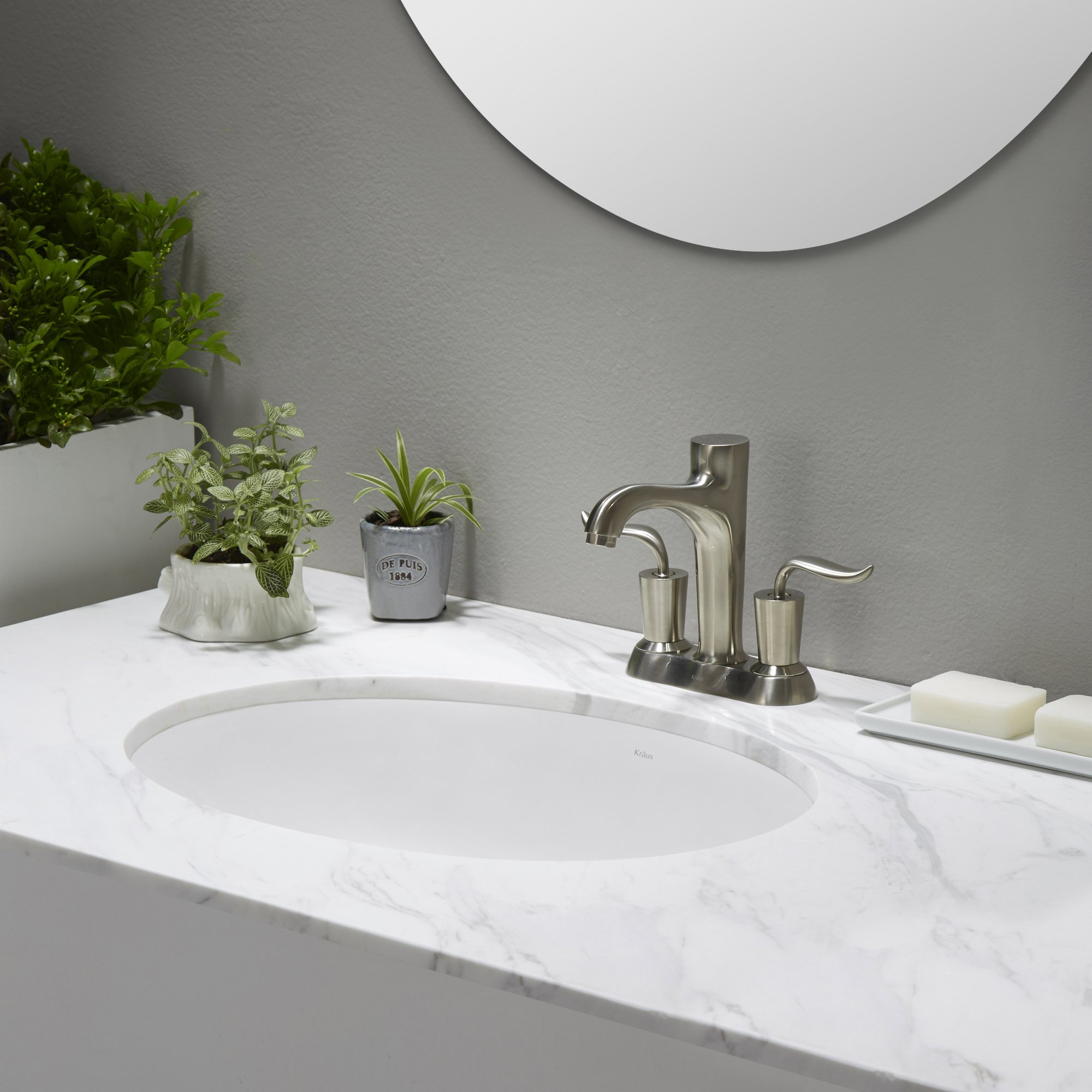 KRAUS Elavo 17 Inch Oval Undermount Porcelain Ceramic Bathroom Sink in White with Overflow, KCU-211 by Kraus (Image #13)
