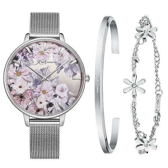 d04fed78798b Kaifanxi - Reloj de Pulsera de Cuarzo para Damas Diseño Delicado con ...