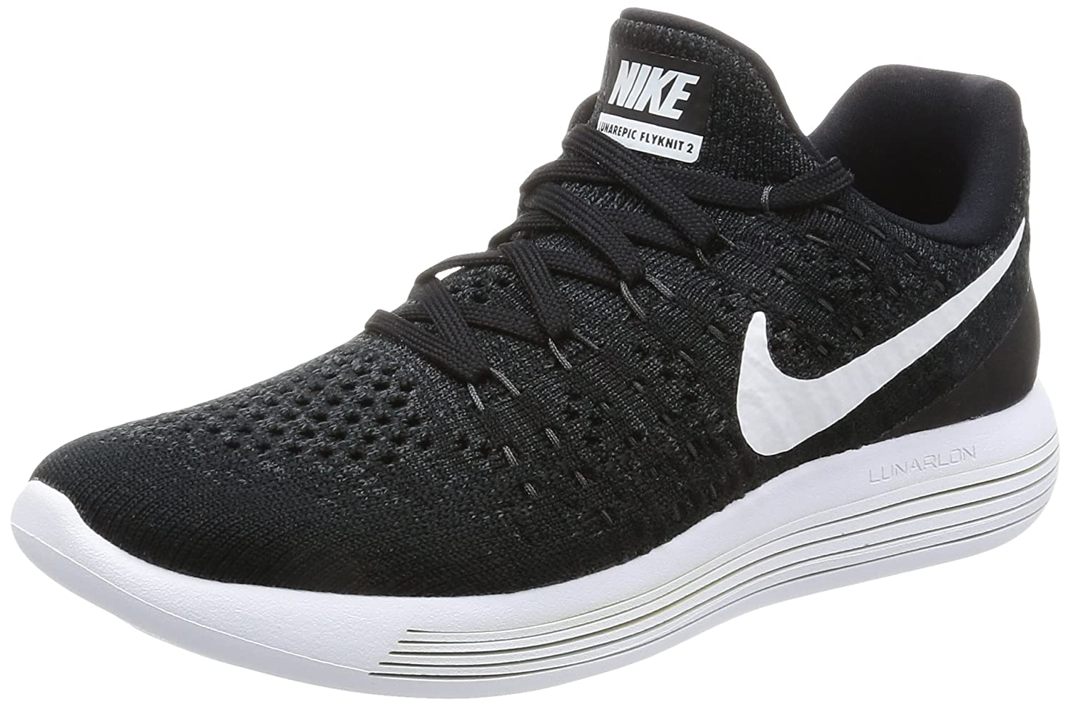 NIKE Women's Lunarepic Low Flyknit 2 Running Shoe B01MUJ15CX 10 M US|Black/White/Anthracite