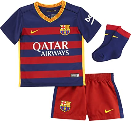 NIKE FCB Home Infants Kit - Traje Completo Fútbol Club Barcelona 2015/2016 para niño, Color Azul/Rojo/Dorado (Loyal Blue/stormred/University Gold), Talla 3-6: Amazon.es: Zapatos y complementos