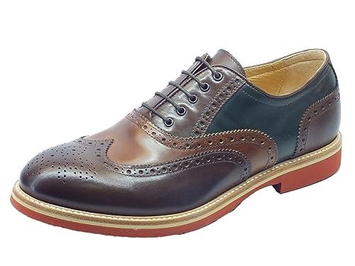 Nero Giardini - Zapatos de cordones de Piel para hombre Beige Size: 39 mVKY3Ba2G