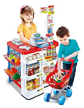4cec629d62a2 Inside Out Toys Childrens, Kids Supermarket, Role Play Shop and shopping  trolley