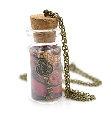 pendant by prayer glass jewelry products roman in a travelers bottle