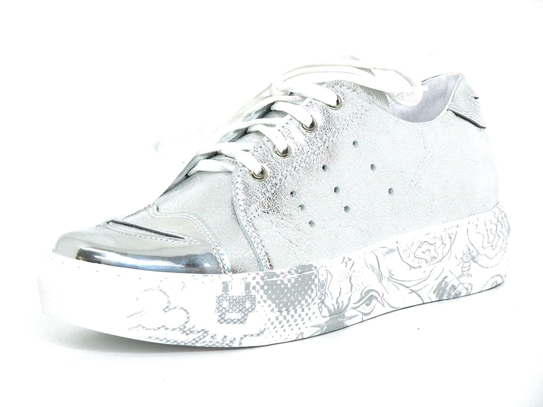 Simen Mujeres Zapatos con Cordones Plata, (Schwarz-Kombi) 0489A 38 EU schwarz-kombi