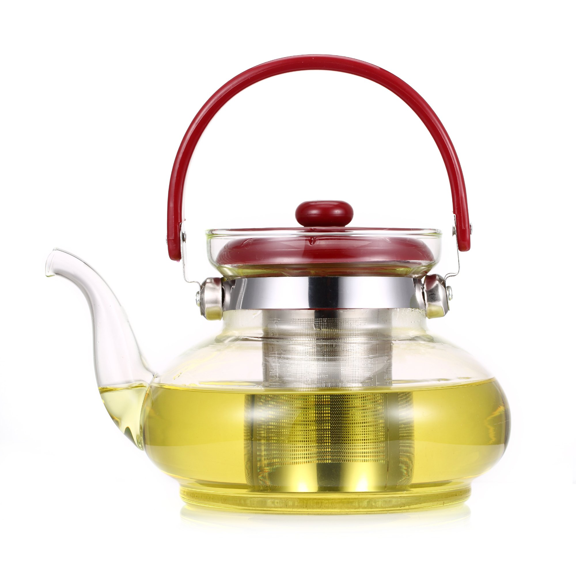 glass teapot w removable infuser 40 oz tea kettle. Black Bedroom Furniture Sets. Home Design Ideas