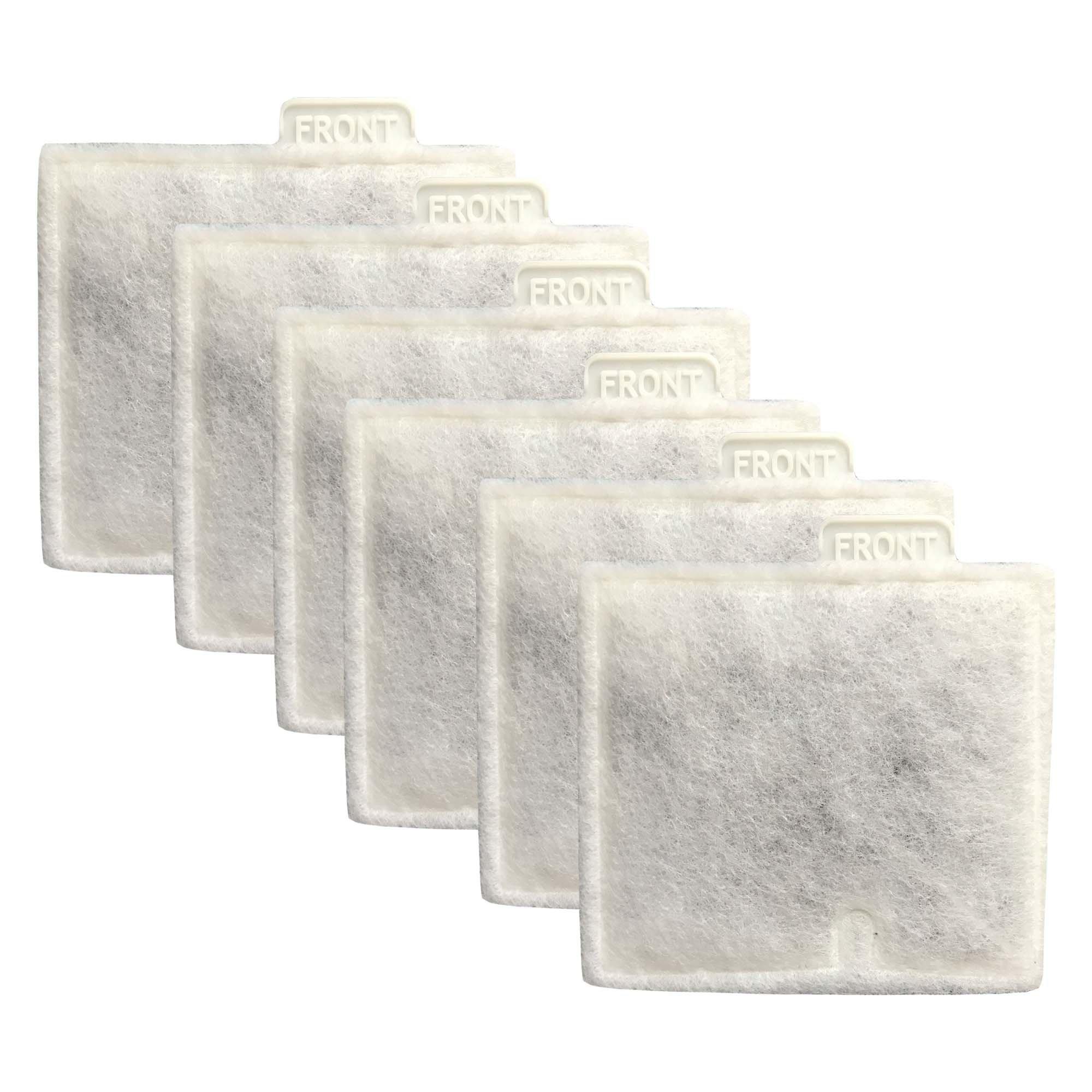 Think Crucial 6 Aquarium Medium Charcoal Filter Cartridges, Compatible Replacements Aqueon QuietFlow Power 10