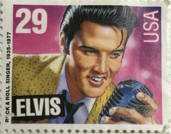 Vintage 1992 Elvis Presley USA 29 Cent Briefmarke Rock Roll Singer 1935 1977