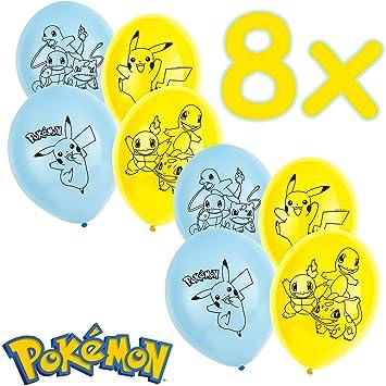 Pokémon: 6 Globos decoración para cumpleaños Infantiles y Fiesta temática de 88 cm de Circunferencia