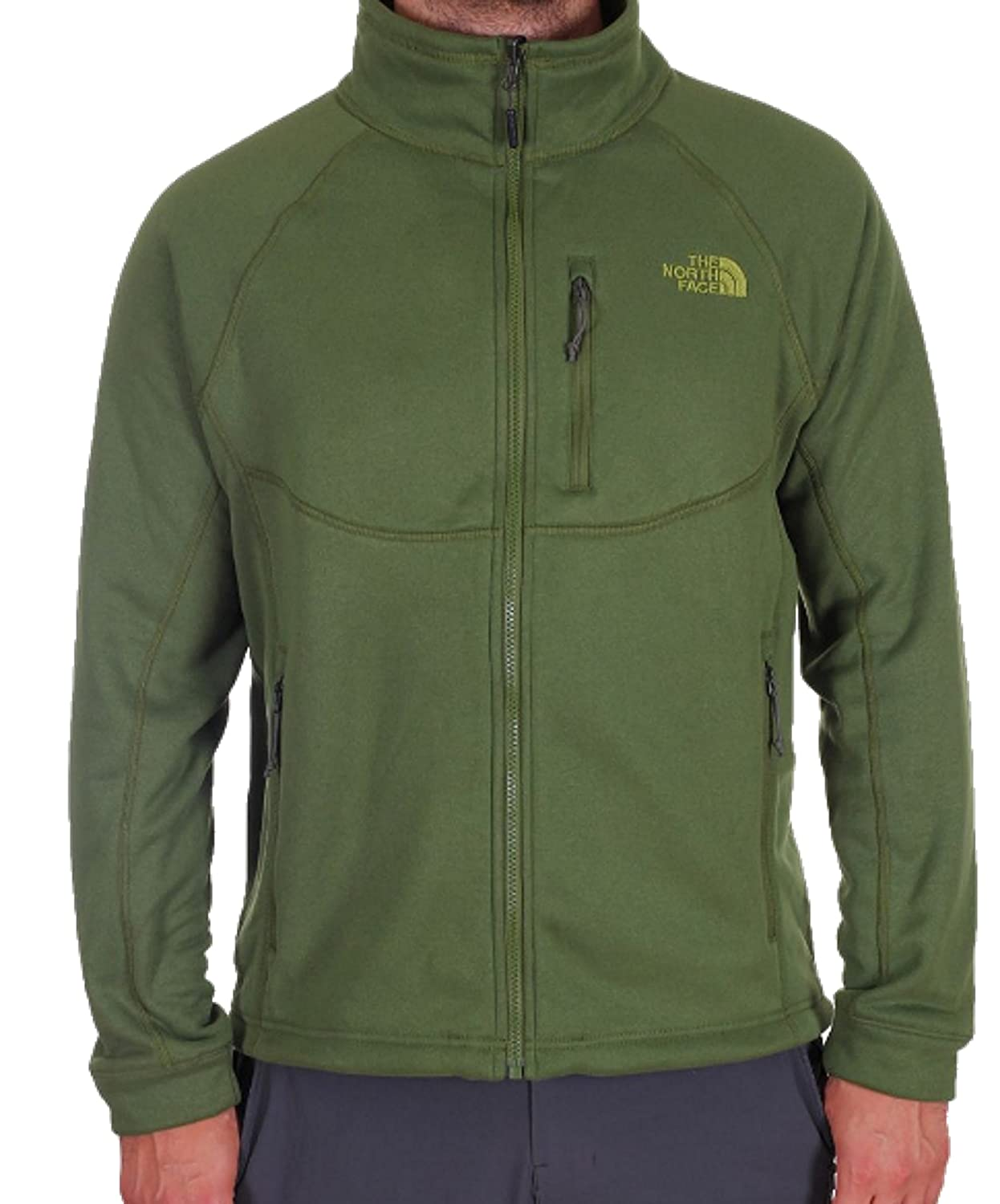 e77d95cd5 THE NORTH FACE M Timber Full Zip Fleece Jacket - Green, Size L ...