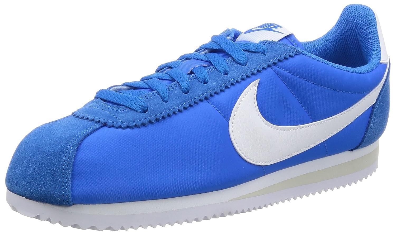 Nike Unisex-Erwachsene Classic Cortez Nylon Photo Fitnessschuhe  45.5 EU|Blau