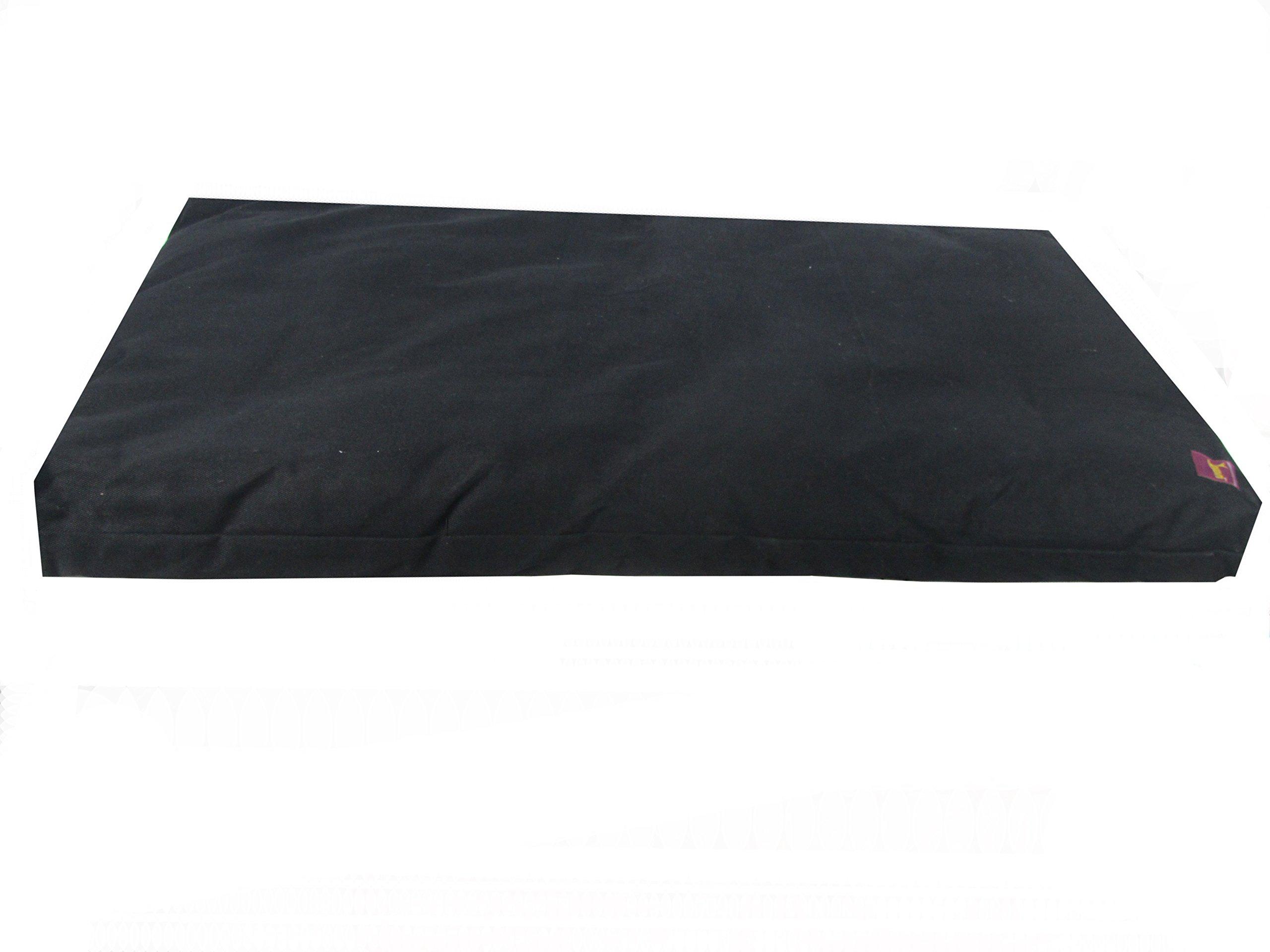 Deluxe Studio Style Yoga and Meditation Kit - Black Zabuton & Black Crescent Zafu by Yogavni(TM) by YogavniTM (Image #4)