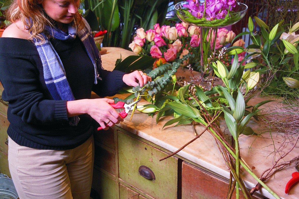 300 Felco Gartenschere mit Edelstahlklinge Nr Rot