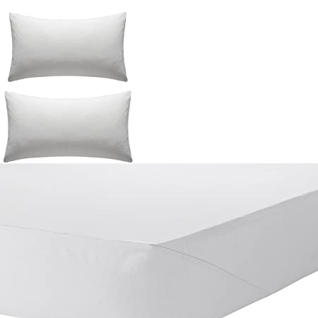 Olivia Rocco Percale Extra Deep Fitted Sheet, Non Iron, 180 TC, 12u0026quot;