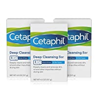 Deals on 3-Pk Cetaphil Deep Cleansing Face & Body Bar for All Skin