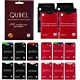 RFID Blocking Sleeves (Set of 16: 12 Credit Card Protectors & 4 Passport Protectors) Tear Proof, Waterproof, Smart Slim Design. Fits Any Wallet/Purse. Premium Identity Theft Protection by Qubel