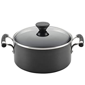 Circulon 89311 5-Qt. Covered Hard Anodized Aluminum Dutch Oven 5 Quart Black