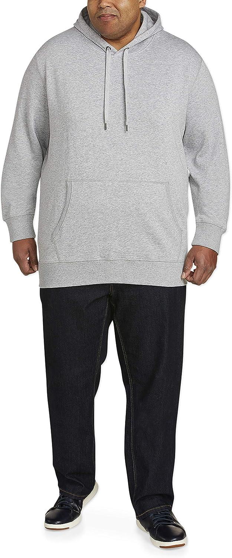 Essentials Men's Big & Tall Hooded Fleece Sweatshirt fit by DXL: Clothing