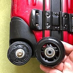 Amazon 静音シリーズキャスター 車輪用交換タイヤキット スーツケース ショッピングカート キャリーバッグ タイヤどの車輪補修用 キャスター取替え Diy 修理 交換 68 6 24 Mm 35 40 Mm Yongxuan トラベルアクセサリ