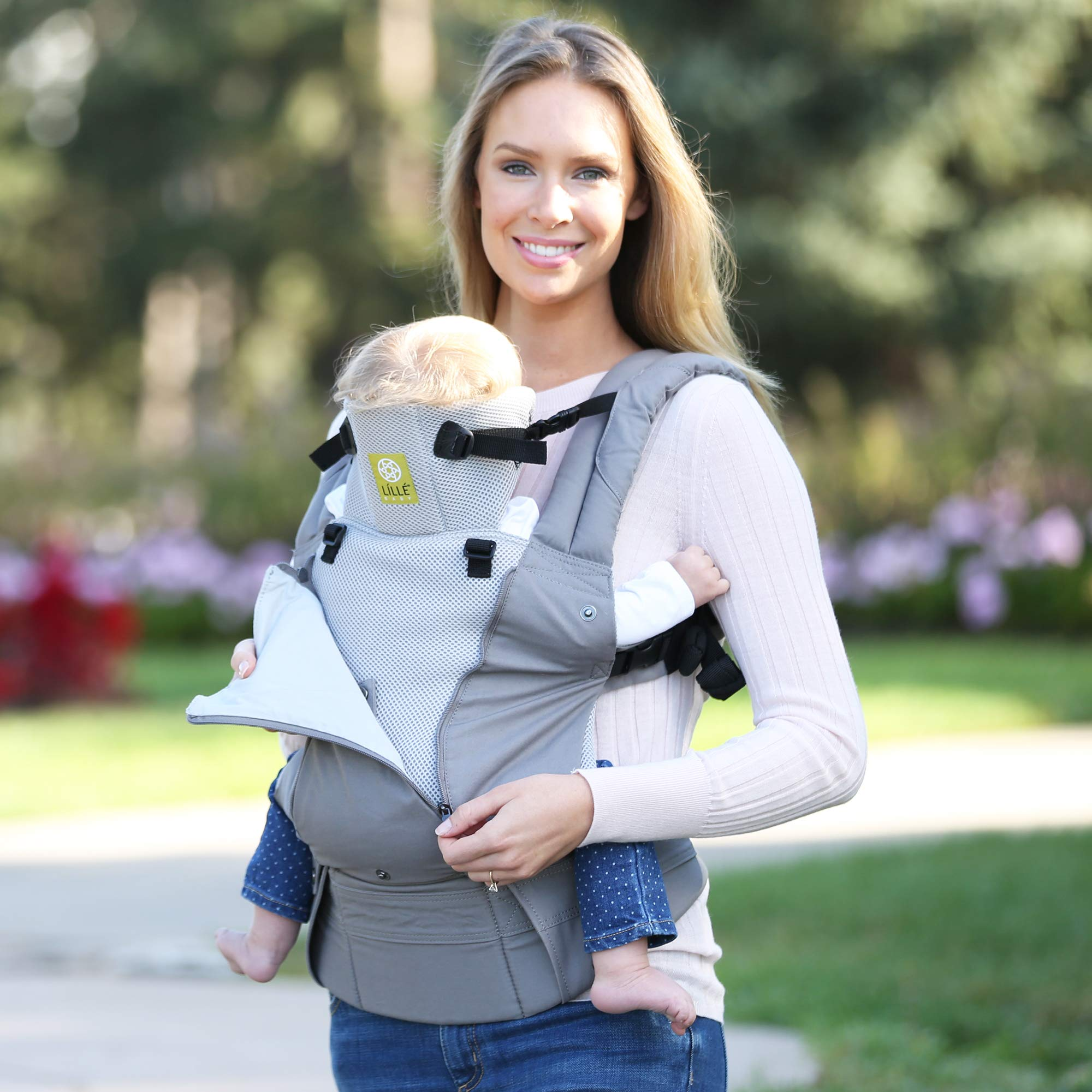 LILLEbaby SIX-Position, 360° Ergonomic Baby & Child Carrier by LILLEbaby – The COMPLETE All Seasons (Stone) by LILLEbaby (Image #6)