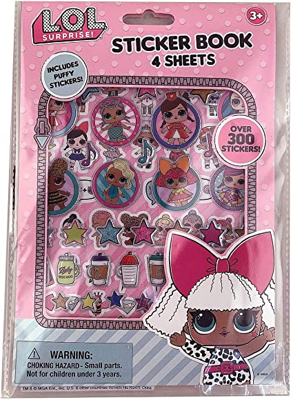 LOL Surprise Sticker Book with Puffy Stickers Party Favors Supplies lol Dolls