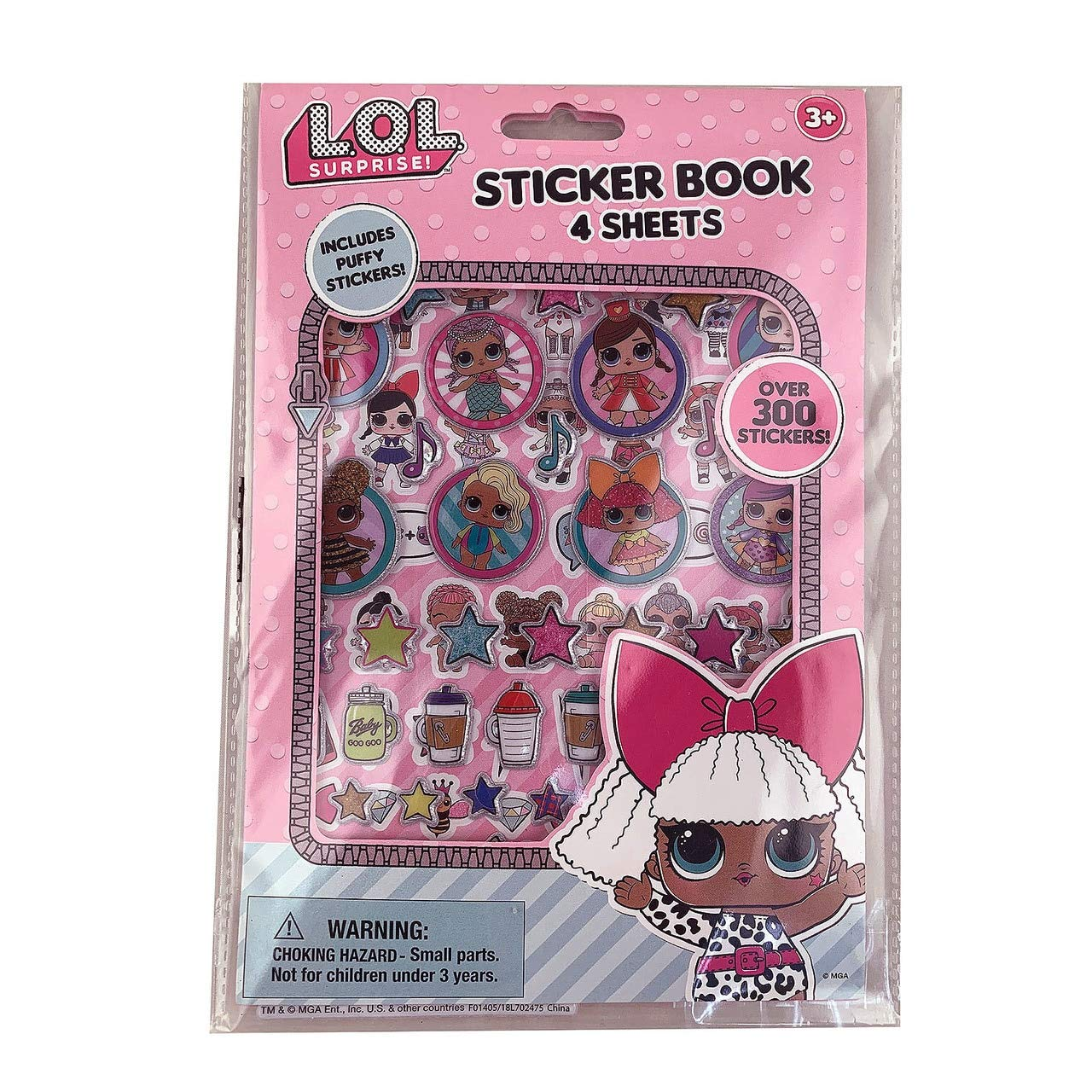 NEW! STICKER BOOK OVER 300+ STICKERS INCLUDES PUFFY STICKERS LOL SURPRISE
