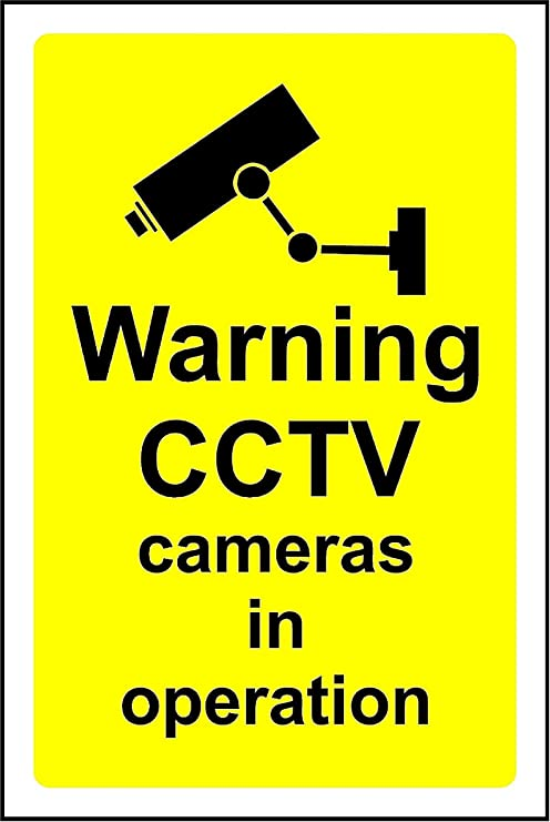 1 CCTV IN OPERATION SIGN 3mm RIGID SIGN 300mm x 200mm CCTV SIGN