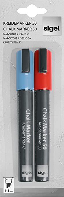 14 opinioni per Sigel GL183 Pannarelli a gesso liquido, artverum, rosso / azzurro, punta obliqua
