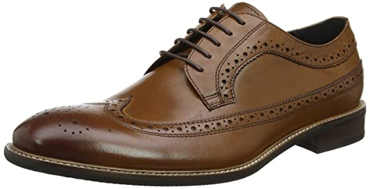 Rizzo, Zapatos de Cordones Brogue para Hombre, Marrón (Brown Leather), 45 EU Bertie