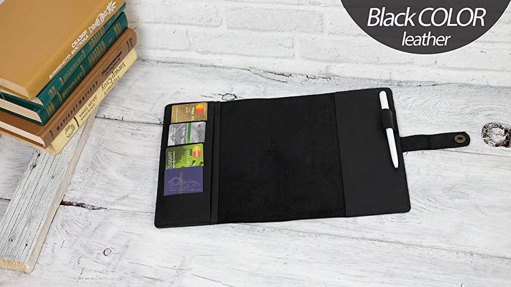 Personalized leather cover a5 Happy notebook a 5 Engraved writing journal A5 Diary cover Planner cover black For notebook 5.9 x 8.3 inch