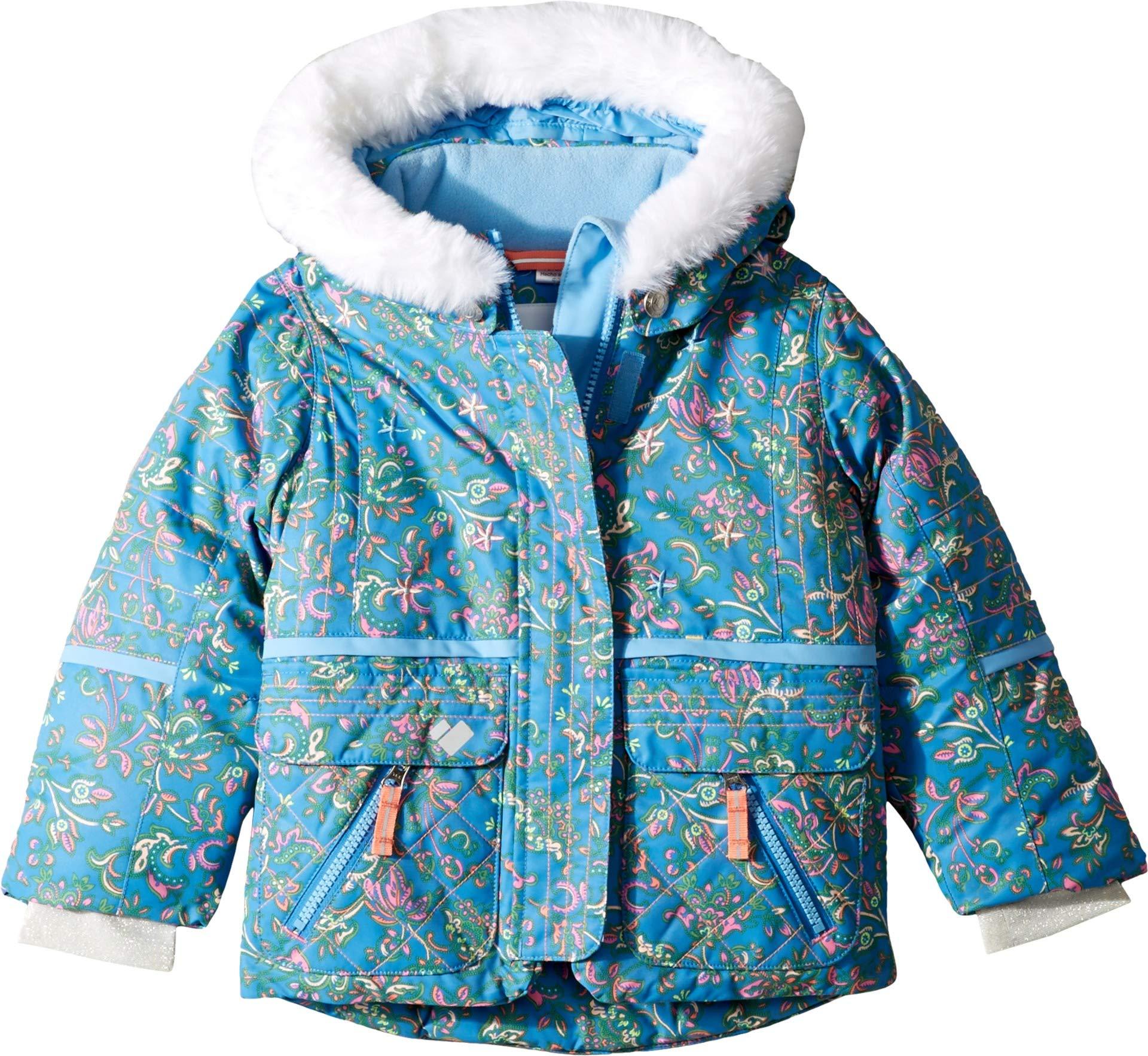 Obermeyer Kids Baby Girl's Lindy Jacket (Toddler/Little Kids/Big Kids) Honeysuckle Blue 4T by Obermeyer Kids