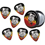 Rugby Rocks 6 X Guitar Picks Plectrums In Tin (R1)
